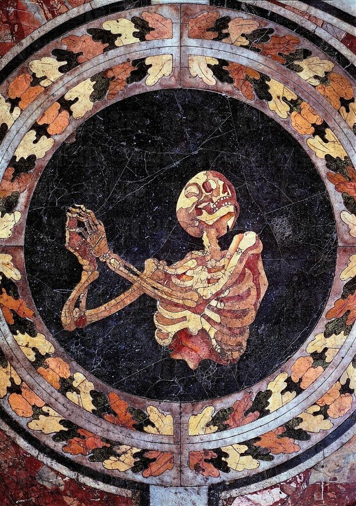 Skeleton Praying (c. 1600s) Marble floor of the Cornaro Chapel