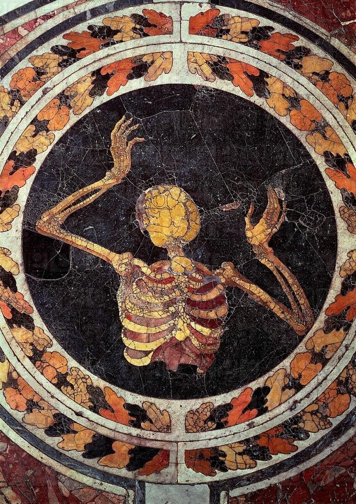 Skeleton Pleading (c. 1600s) Marble floor of the Cornaro Chapel