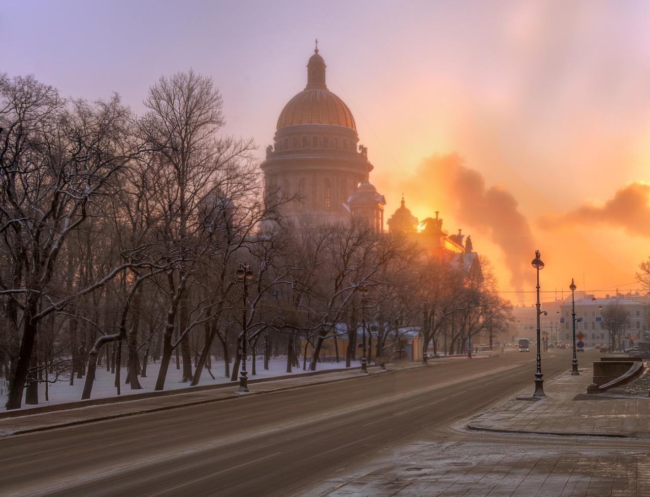 January Morning - St. Petersburg by  Ed Gordeev